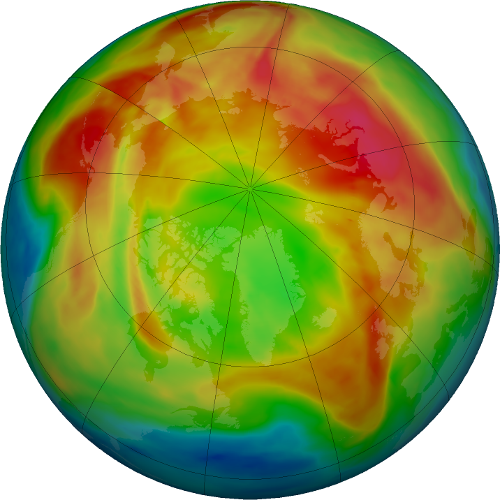 Arctic ozone map for 17 February 2021
